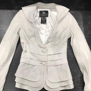 Original Rock&Republic Ivory Leather Jacket